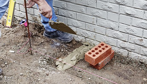 Adjust Iron Rods to Maintain the Area