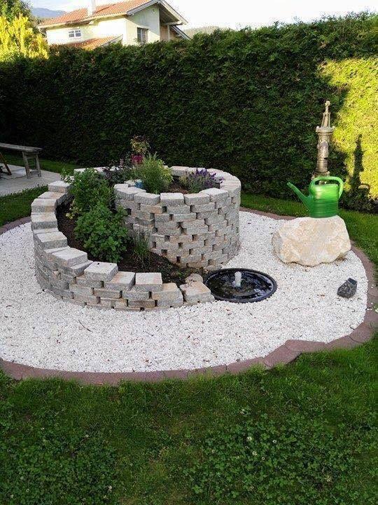 Fountain Flat Block Planter Box