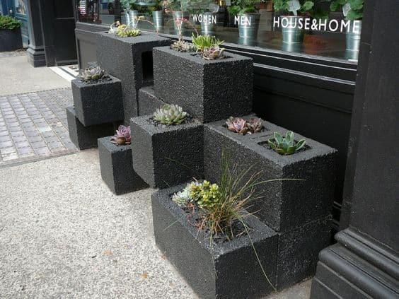 Urban Cinder Block Planter Box