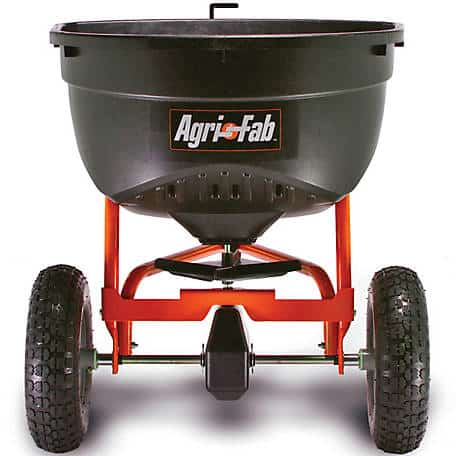 Agri-Fab 45-0463 130-Pound Tow Behind Broadcast Spreader - best fertilizer spreader for large lawn