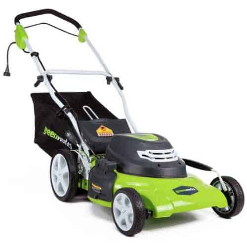Greenworks 20-Inch Electric Corded Lawn Mower - best electric lawn mower for small yard