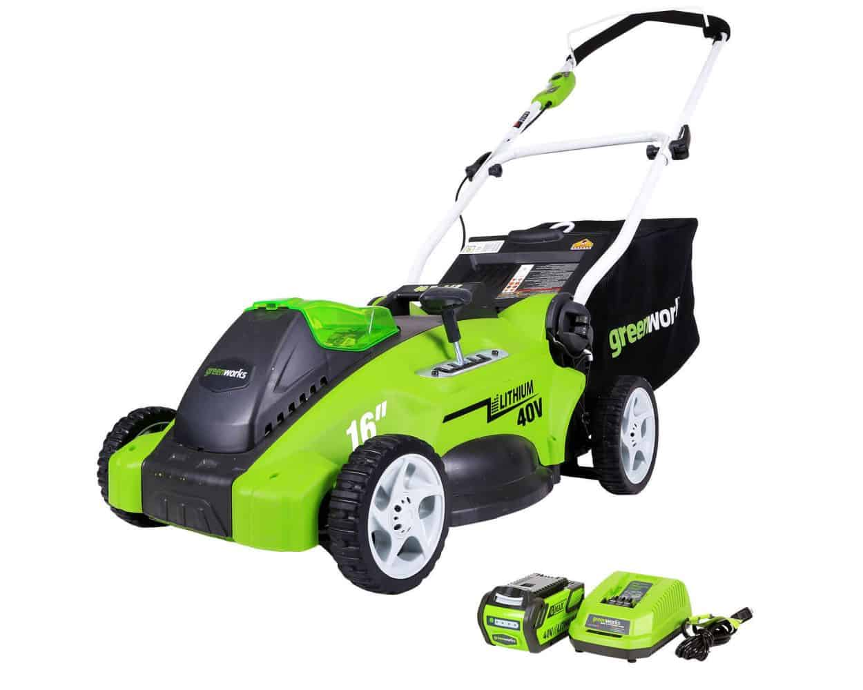 Greenworks G-MAX 40V 16'' Cordless Lawn Mower- Best lawn mower for small lawn