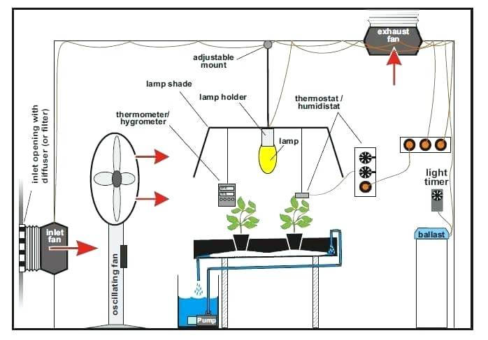 How to set up a grow tent ventilation system