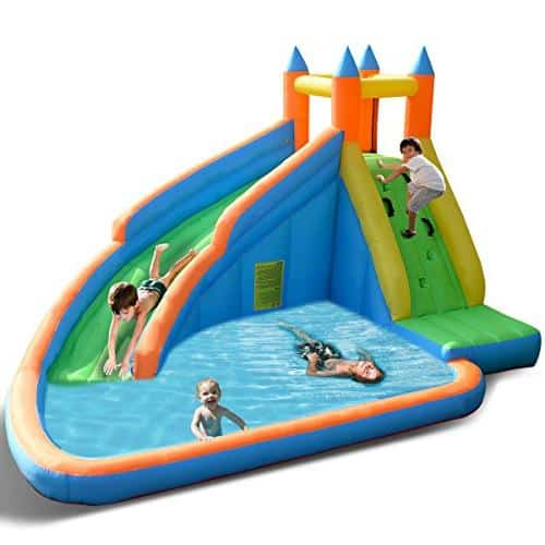 Costzon Inflatable Slide Bouncer - Best kiddie pool with slider