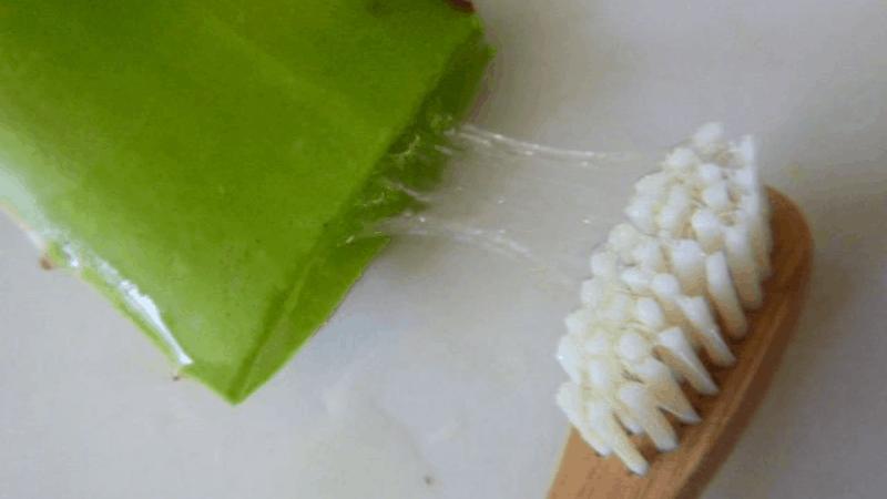 How to apply aloe vera gel on teeth