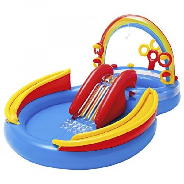Intex Rainbow Ring Inflatable Play Center - Best ring pool for kids