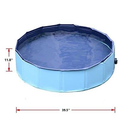 Jasonwell Foldable Dog Pet Bath Pool Collapsible Dog Pet Pool - Best framed pool for pet - Best framed pool for dog