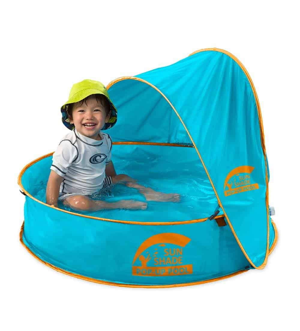SunShade Pop-Up Pool - Best kiddie pool with shade