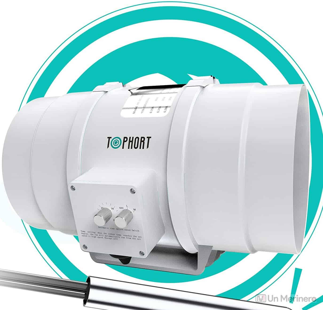 TOPHORT Booster Inline Exhaust Fan - best exhaust fan for 10x10 grow tent