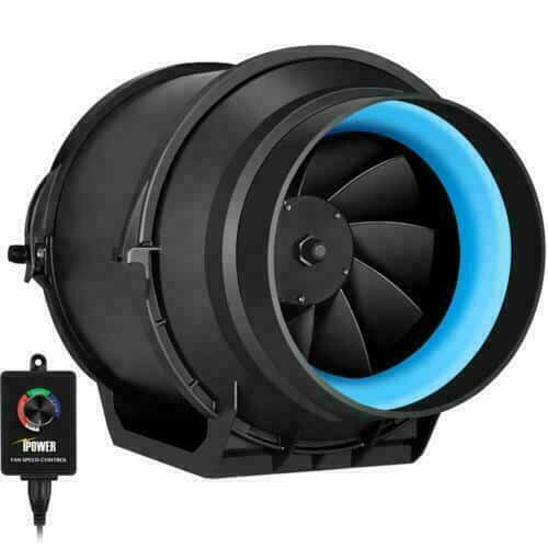 iPower GLFANXINLINEEXPC4 Inline Duct Fan with Variable Speed Controller - best grow tent fan for mushroom