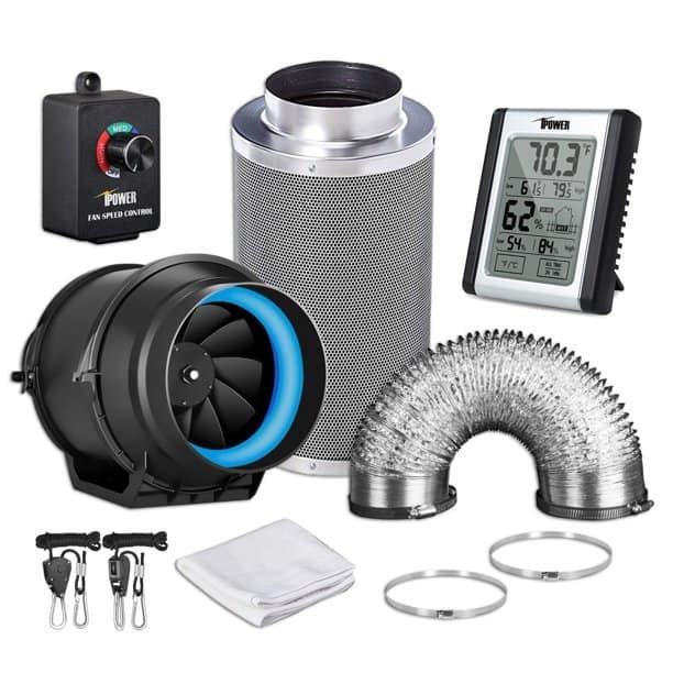 iPower Inline Filter Ducting Fan - Best grow tent fan for ventilation