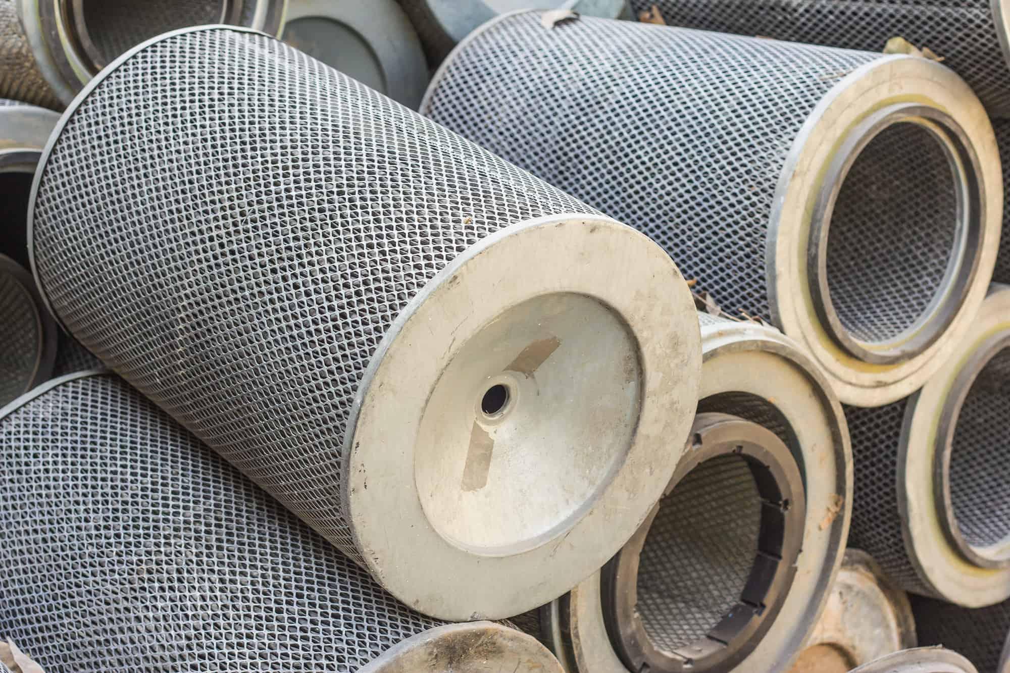 Damaged carbon air filter