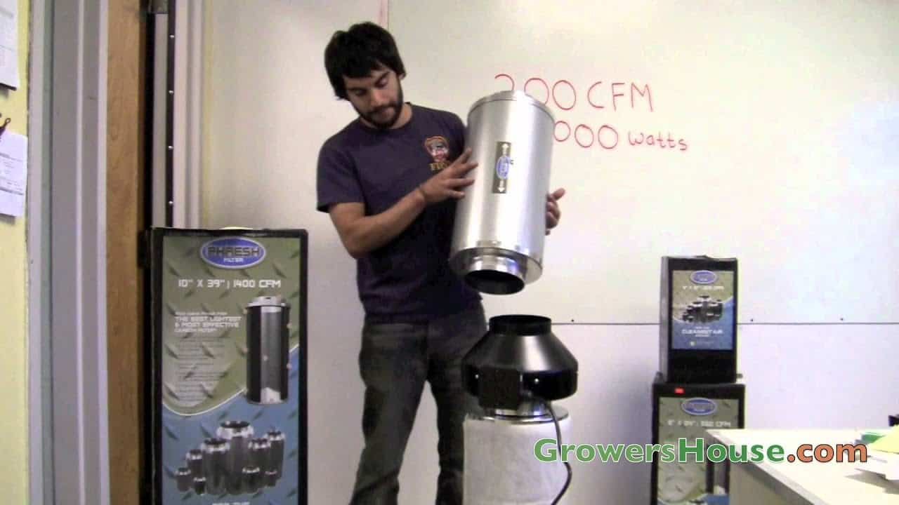 Removing the activated carbon filter from the grow room