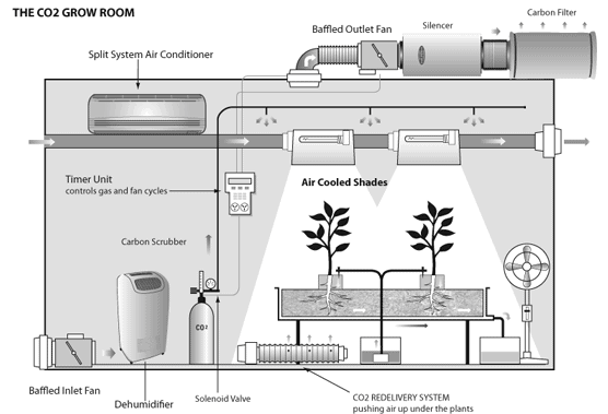 Ventilation system of a grow tent