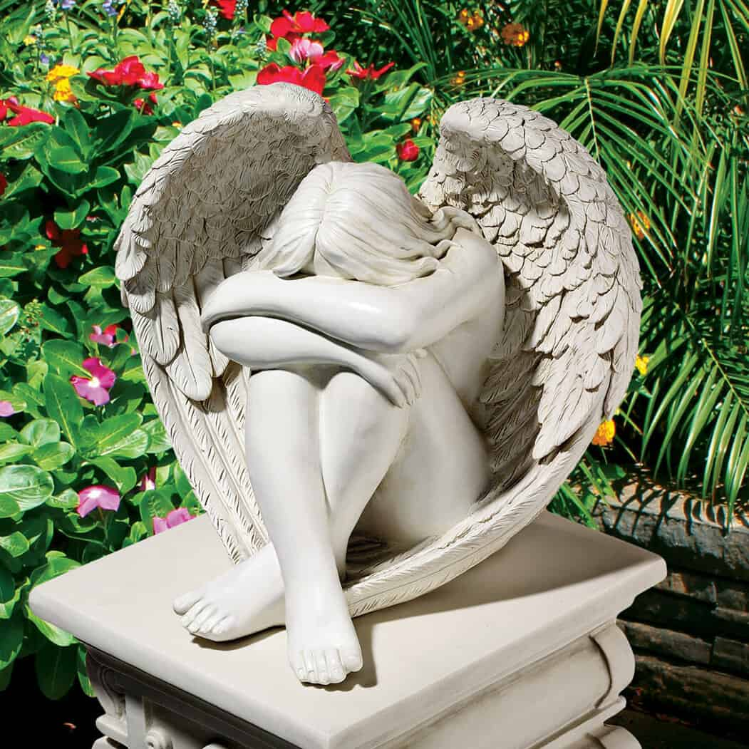 Best Angel Statue For Small Lawn - Serene Solitude Angel Garden Statue