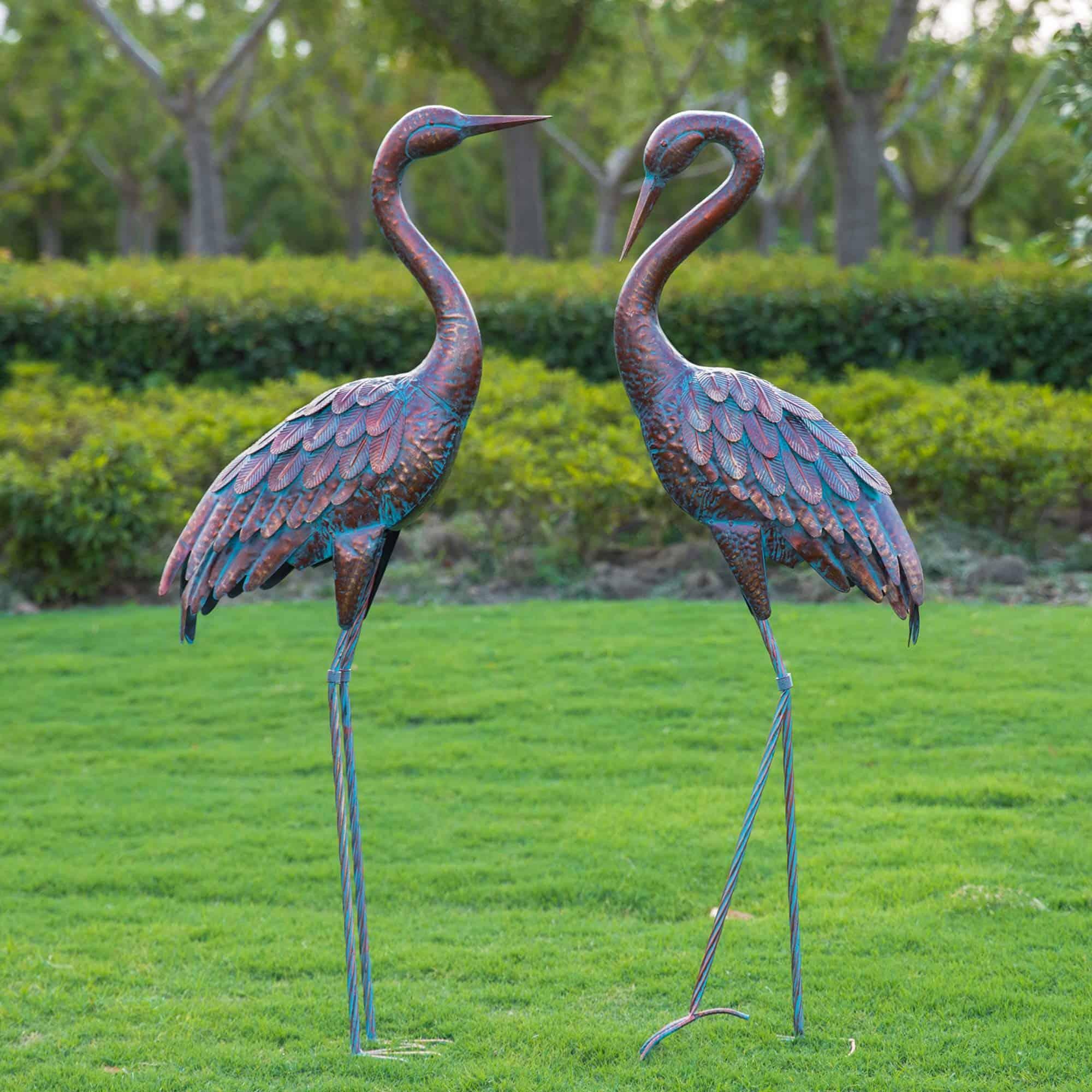 Best Kircust Statues For Garden - Garden Crane Statues