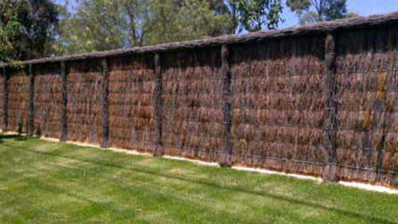 Brush Fence for Garden Fencing