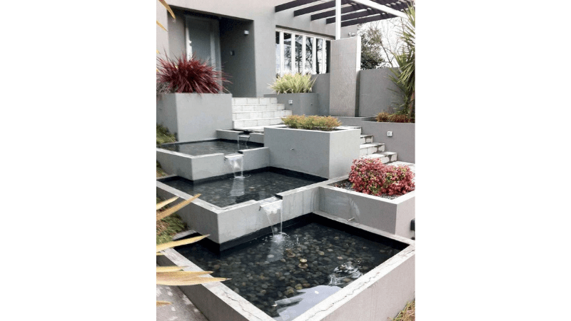Build Two Ponds outdoor fountain ideas