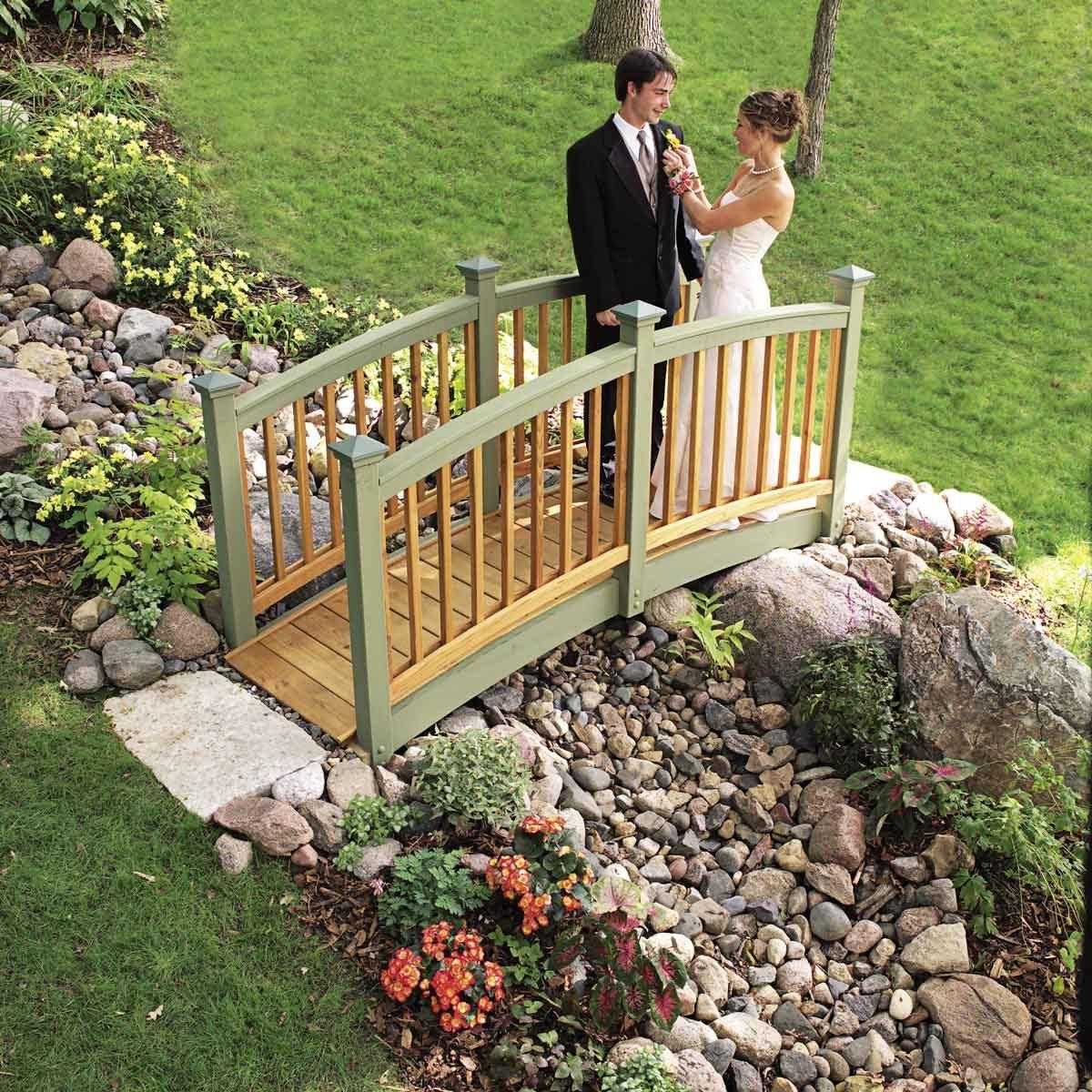 How to Build a Garden Bridge with an Arch?