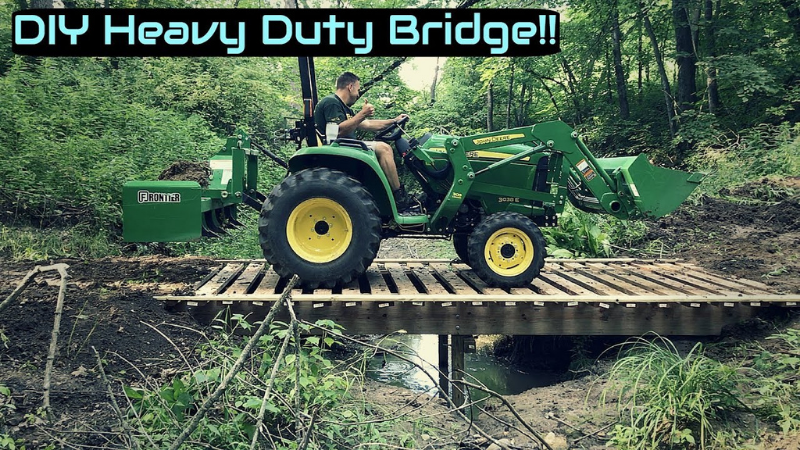How to Build a Small Bridge Over a Ditch?