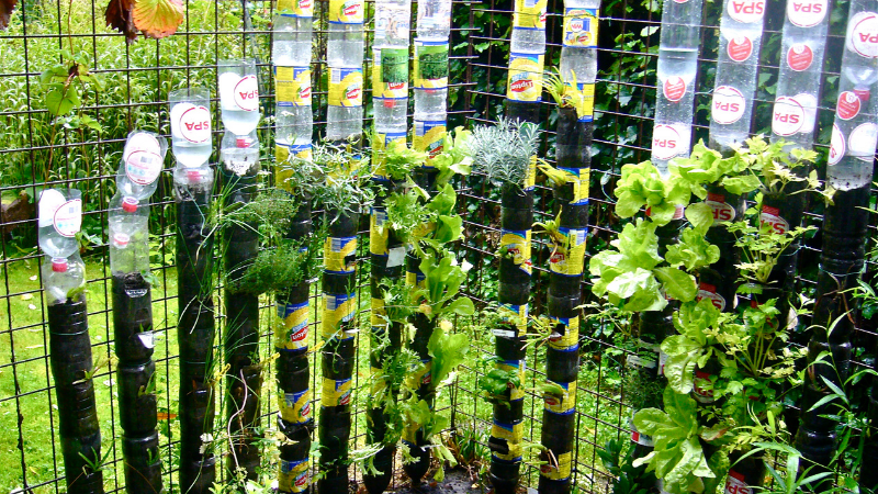 How to Make A Bottle Tower Garden - Create The Tower Base