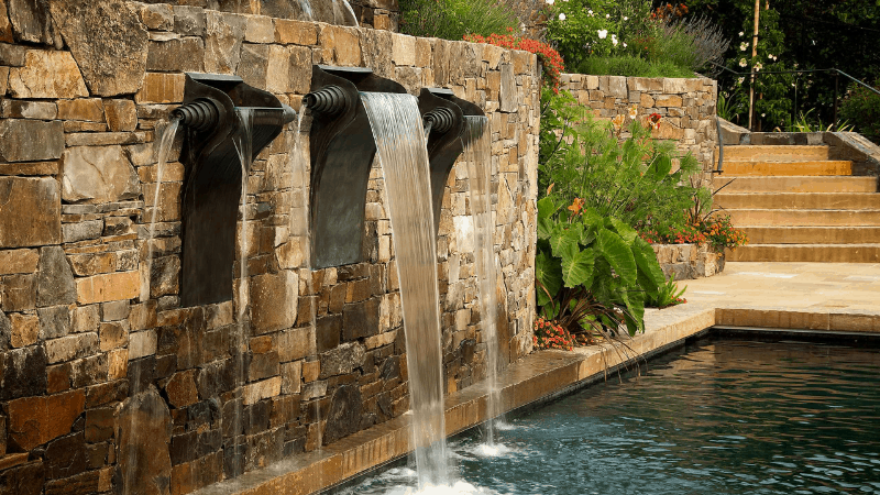 Monumental Water Wall - Outdoor Wall Fountain Ideas