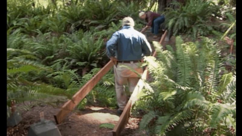 Step Four - how to build a mini garden bridge