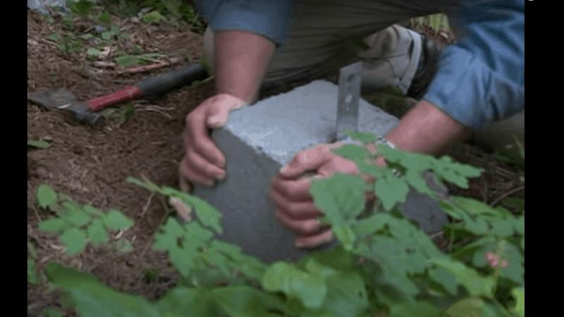 Step Two - how to build a mini garden bridge
