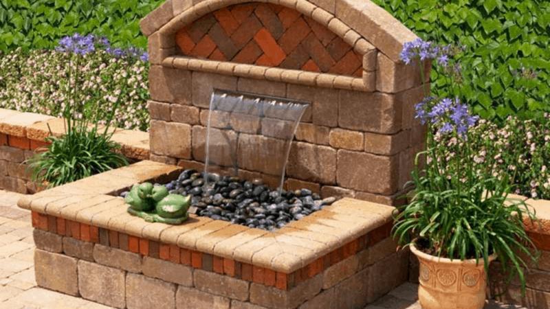 The Art of Brick - Outdoor Wall Fountain Ideas