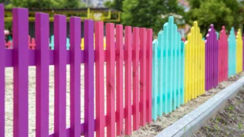 colorful fences for garden