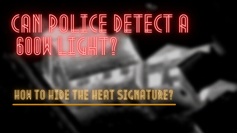 Can Police Detect 600 Watts Light - How To Hide The Heat Signature?