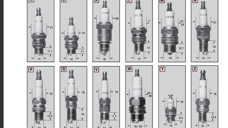 Are all lawn mower spark plugs the same?