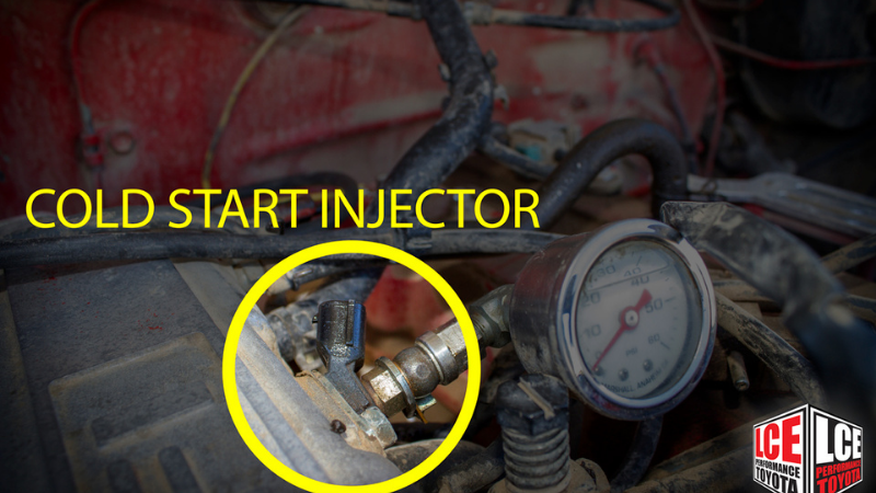 Leaking cold start injector