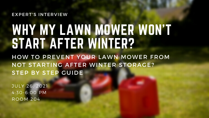 Why My Lawn Mower Won't Start After Winter - How to Prevent Your Lawn Mower From Not Starting After Winter Storage