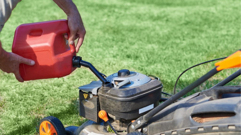 lawnmower Using The Right Type Of Fuel