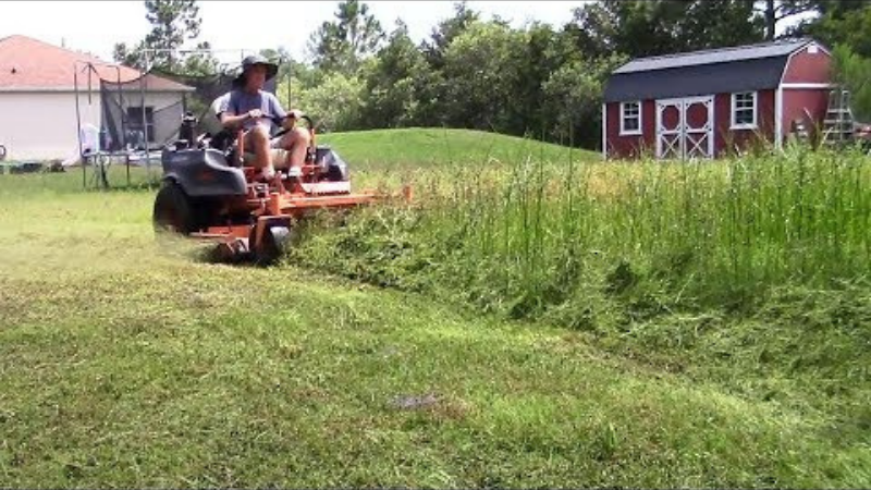 Cutting Tall And Thick Grasses