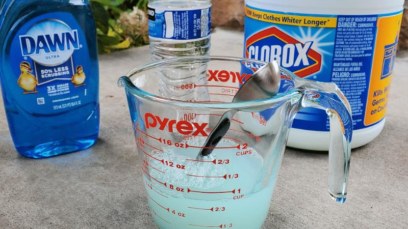 How To Mix Dish Liquid, Salt & Bleach For Weed Killer