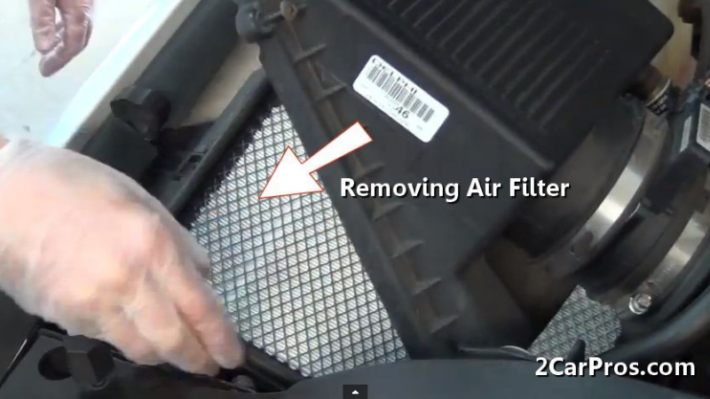 Taking Off The Air Filter Casing