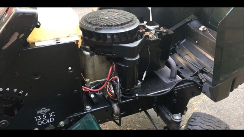 Turn off The Ignition Switch of a lawnmower