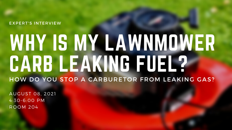 Why Is My Lawnmower Carb Leaking Fuel - How Do You Stop A Carburetor From Leaking Gas