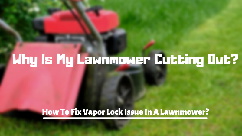 Why Is My Lawnmower Cutting Out - How To Fix Vapor Lock Issue In A Lawnmower