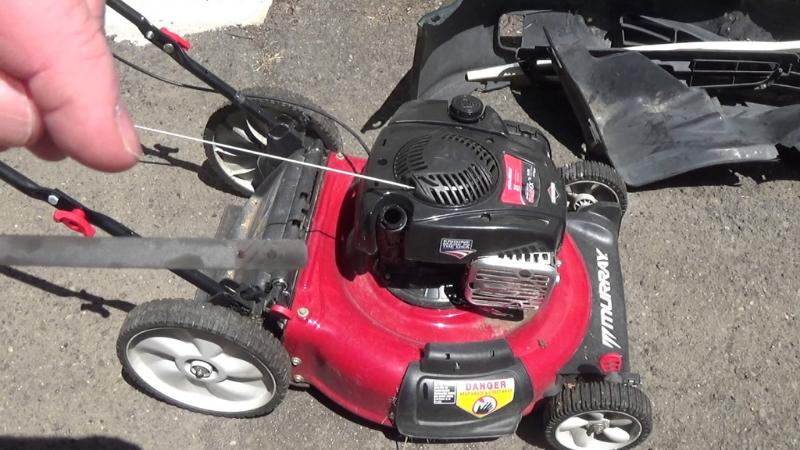 Examine Lawnmower Oil Level