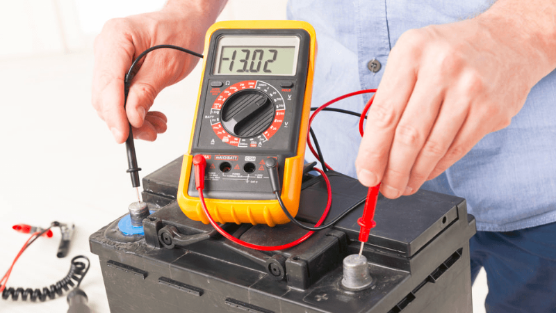 How to Properly Recharge Lawn Mower Batteries - Checking The Battery