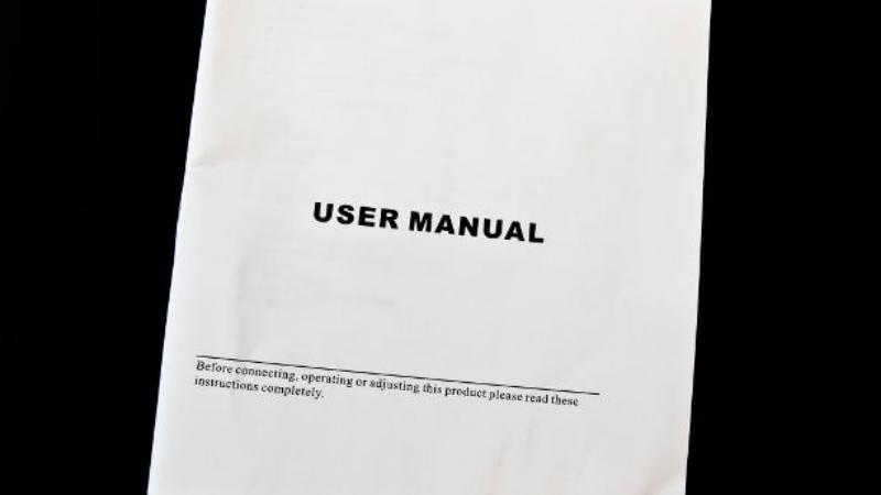 Never Overlook Manufacturer Instruction