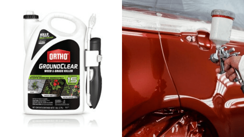 What to Do If Weed Killer Touches with Car Paint?